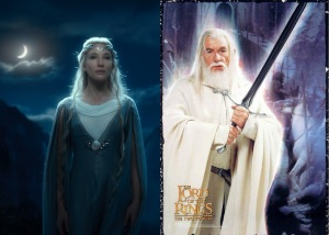 Galadriel and Gandalf